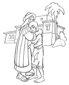 the lost son parable puzzles, coloring pages | parable of prodigal son-the lost son-biblekids.eu