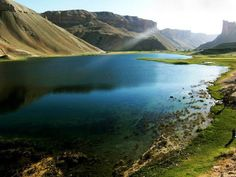 One of the 5 lakes in bamyan - Afghanistan. Very high on my bucket list! Afghanistan Independence Day, Afghanistan Landscape, Natural Wonders, Asia Travel, Beautiful Landscapes, Wonders Of The World, Places To See, Cool Pictures, Beautiful Places