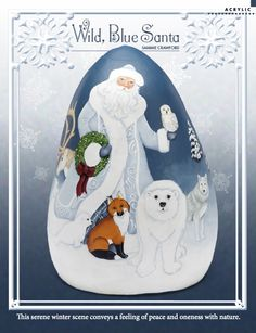 Now available in the members' section of DecorativePainters.org: Wild, Blue Santa from Sammie Crawford    decorativepainters.org  Learn to paint with us! With our step by step pattern based designs, anyone can become a Master Decorative Artist.