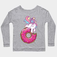 Unicorn & donut by plushism