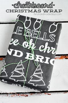 Chalkboard Christmas Wrapping Paper