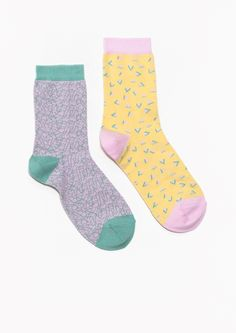 & Other Stories   Geometric Jacquard Socks