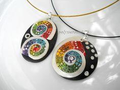 mes Bettina spirales que je viens de découvrir sur PolymerClay Daily. Quel honneur!!!. Je suis super contente by Polymeramoi, via Flickr
