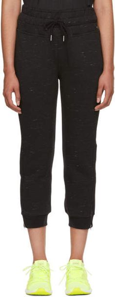 adidas by Stella McCartney Black ESS Sweatpants Stella Mccartney Adidas, Athletic Pants, Bermuda Shorts, Capri Pants, Sweatpants, Slim, Fitness, Collection, Black