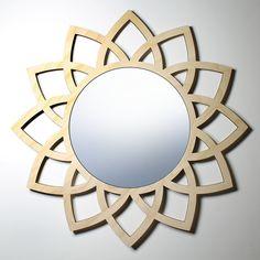 "LOTUS WALL MIRROR - 9"" mirror"