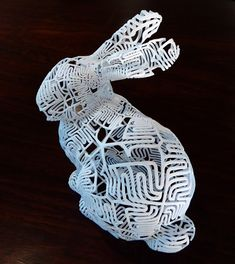 "Math is beautiful: This is a self-referential bunny — a sculpture of a bunny, the surface of which is tiled by 72 copies of the word ""Bunny."""