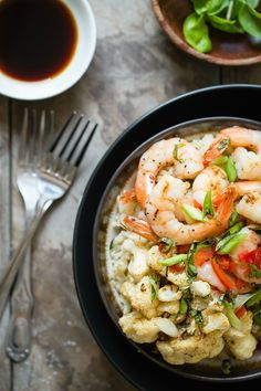 Healthy shrimp rice