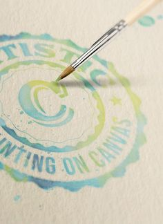 Free Logo/Text Mock-up – Watercolor Painting