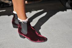 the Velvet Chelsea Boots