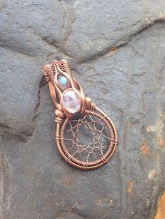 Wire Wrapped Dreamcatcher Dreamcatcher Jewelry by SweetWaterSilver