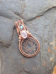 Wire Wrapped Dreamcatcher Dreamcatcher Jewelry by SweetWaterSilver