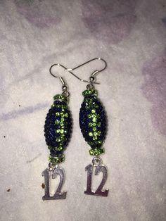 A personal favorite from my Etsy shop https://www.etsy.com/listing/263442236/seattle-seahawks-12-earrings