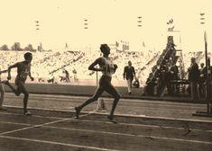 Heysel Stadium@Wim Slijkhuis Netherlands 3'.47''.2 Gold Medal (CR)@Patrick El Mabrouk France 3'.47''.8 Silver Medal@27.8.1950 Gold Runner, European Championships, Netherlands, Runners, Athlete, France, Silver, The Nederlands, Hallways