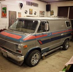 Custom 70's Chevy van