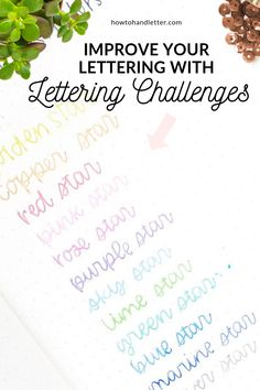 Lettering Challenges - how to handletter Lettering Guide, Creative Lettering, Lettering Styles, Lettering Tutorial, Brush Lettering, Hand Lettering For Beginners, Calligraphy For Beginners, Learn Calligraphy, Diy Letters