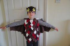 kinder fasching kostüm junge-eule-maske-augen-fluegel