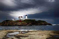 "Cape Neddick ""Nubble"" Lighthouse by Matt Romaine, via 500px"