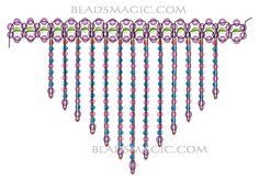 Free pattern for beautiful beaded necklace Verushka U need: faceted beads 4 mm pearl beads 4 mm Beaded Necklace Patterns, Beaded Jewelry Designs, Bead Jewellery, Bracelet Patterns, Beaded Necklaces, Beading Tutorials, Beading Patterns, Necklace Tutorial, Bijoux Diy
