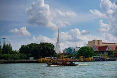 Wat Prayoon  #WatPrayoon #Thonburi #ChaoPhraya #MyKrungthep #Bangkok   - white stupa - #pagoda #stupa #bangkok #thailand #กาหลมหรทึก #วัดประยุรวงศาวาสวรวิหาร #พะนอนิจ #river #boat #chaophrayariver #sky Hidden Treasures, Bangkok