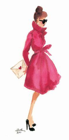 Inslee haynes - watercolor fashion illustration - a good one. Watercolor Fashion, Watercolor Art, Fashion Images, Fashion Art, Fashion Models, Style Fashion, Classy Fashion, Fashion Trends, Trendy Fashion