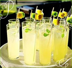 These would be perfect with a Tropical Blast garnish from Delisun! www.DelisunGourmet.com