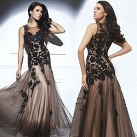 2014 New Arrival Hot Sale Formal Elegant Fashion O-Neck Sleeveless Appliques Lace Prom Dress Prom Gown Women Clothing