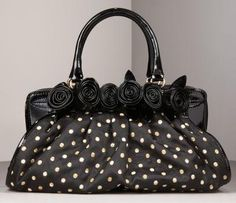 Purse  #black #polka_dot