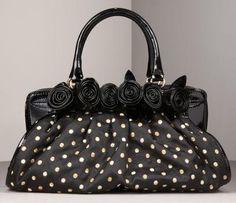 Purse  #black #polka_dot