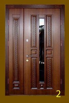Double Front Doors, Modern Front Door, Wood Front Doors, Wooden Doors, Entry Doors, Wooden Main Door Design, Room Door Design, Door Design Photos, Classic Doors