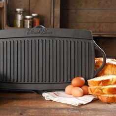 The Pioneer Woman Timeless Cast Iron Pre-Seasoned Reversible Grill/Griddle, Black