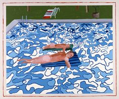 lacma: David Hockney. California Copied From 1965 Painting in 1987. 1987.