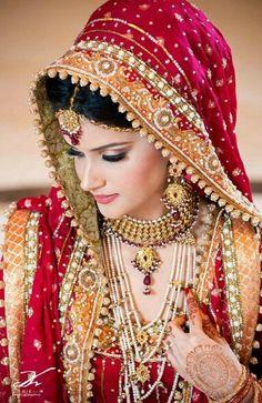 Bridal Makeup Tips, Indian Bridal Makeup, Indian Bridal Fashion, Bride Makeup, Bridal
