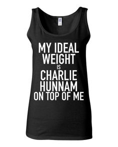 Sons of Anarchy - My Ideal Weight Is Charlie Hunnam On Top Of Me - Funny Workout Shirt - Jax Teller by KimFitFab, $23.00