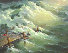 Por Amor al Arte: Pinturas de paisajes marinos por George Dmitriev