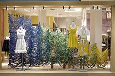 Anthro Dyed Fabric Window Display