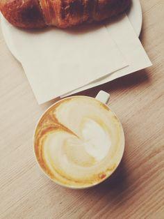 Michelle's morning cappuccino &croissant
