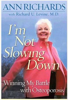 After Richards' mother suffered through osteoporosis, she launched an awareness campaign for women to monitor their bone density and to seek treatment for the disease. Richards co-authored her second book I'm Not Slowing Down - Winning my battle with osteoporosis with Dr. Richard Levine.