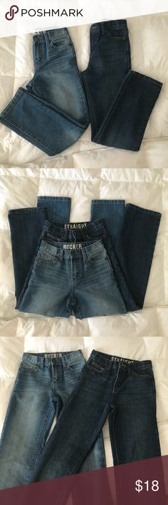 Crazy8 Boys jeans NWOT/ new hasn't been worn, bought them to my son he ripped of all tags n than he put it in his draws when he was about to wear them they didn't fit him. I add a used short as a gift in good conditions, but size 6. The two long jeans are size 10. Those will fit 7-8 years old skinny boy. Crazy8 Other