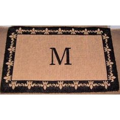 "Imperial Fleur De Lis Border Monogram Golden Doormat Size: 24"" x 39"", Letter: C by Geo Crafts, Inc, http://www.amazon.com/dp/B0050OO7XM/ref=cm_sw_r_pi_dp_YFpoqb0A13CVB"