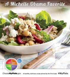 Kale, Quinoa and Cherry Salad (Source: MyPlate) Good Healthy Recipes, Healthy Snacks, Healthy Eating, Just Cooking, What's Cooking, Healthy Sides, Nutritious Meals, Kale, Quinoa