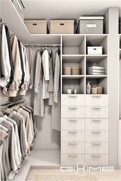 Closet Layout 319122323595419778 - Project of wardrobe Gdańsk on Behance Source by fidjiinstitut Small Walk In Wardrobe, Walk In Closet Design, Closet Designs, Small Walk In Closet Ideas, Small Walking Closet, Master Closet Design, Small Closets, Wardrobe Design Bedroom, Master Bedroom Closet