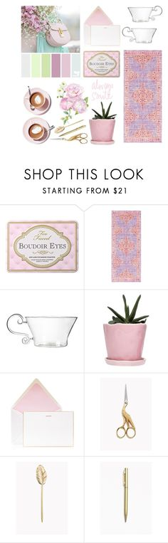 """""""Bring a smile home"""" by thestyleartisan ❤ liked on Polyvore featuring interior, interiors, interior design, home, home decor, interior decorating, Décor 140, Dot & Bo and Bell'Invito"""