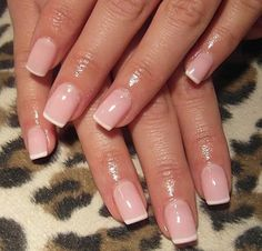cool French manicure on short nails :) very simple and just perfect....