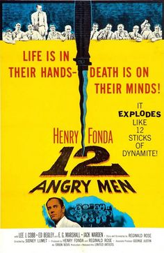 12 Angry Men IMDb logo with Henry Fonda, Lee J. Cobb, E. Marshall, Jack Klugman, and Jack Warden directed by Sidney Lumet Best Movie Posters, Classic Movie Posters, Classic Movies, Awesome Posters, Man Movies, Movies To Watch, Good Movies, Cinema Tv, I Love Cinema
