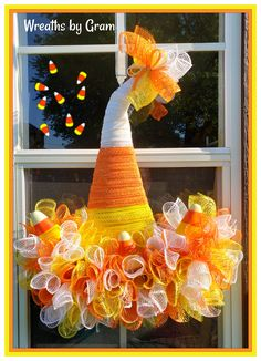Candy corn wreath; candy corn witch hat; candy corn decor; halloween wreaths for front door; fall wreaths deco mesh; fall porch decor; indoor fall wreaths; candy corn wreath halloween decorations; get well soon gift ideas; October birthday gifts; Fall birthday gift ideas; thinking of you gift ideas; halloween gifts; kid friendly halloween decor; cute halloween decorations; halloween mantle decor; halloween home decor; fall porch decor #candycorn #wreaths #fallwreaths #halloween…