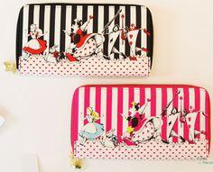 【楽天市場】不思議の国のアリス 財布 さいふ ピンク ブラック ハートのチャーム付き 東京ディズニーリゾート限定 TDR Alice in Wonderland Wallet Pink Black Limited in Tokyo Disney Resort:Panna House
