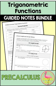 If you prefer guided notes for your instructional needs, this is a full unit on Trigonometric Functions for your PreCalculus Honors students. A full solution set is also provided. Just print the unit packet for each student and you're ready to go. No Pre Secondary Resources, Secondary Teacher, Teacher Resources, Math Teacher, Teaching Math, Teaching Ideas, Trigonometric Functions, We Are Teachers, Honor Student