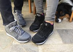 Even the furry guy can't keep his eyes off this Skechers Originals pair.