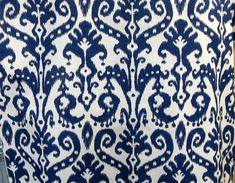MARRAKESH BATIC Indigo Blue Ikat  one yd min by reneesfabrics, $26.50