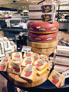 The cheese wedges are what you are there to buy, but Kings® cheese wheel tower is what calls you from a distance. And since there weren't enough cheese wheels to make the tower by themselves, circu...